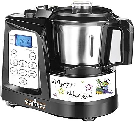 Robot de cocina pegatinas de caldero Bruja verde nombres para Calli: Amazon.es