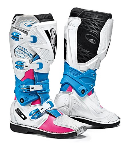 (Sidi X-3 Lei Off Road Ladies Motorcycle Boots Pink/White/Light Blue US9.5/EU42 (More Size Options))