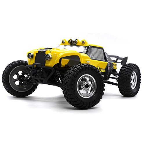 KELIWOW 12891 4WD RC Monster Truck 1:12 Scale Waterproof 4 X 4 Remote Control Off-Road Car 2.4G 25+ MPH High Speed Electric Buggy with LED Lights