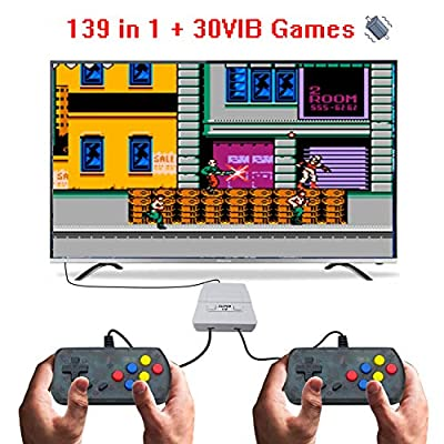 BAORUITENG  Handheld Game Console, 169 Classic Games (30 Vibrating Games ) Support Multiple TV Display Modes for Two Players Portable Retro Video Game Console , Good Gifts for Kids and Adult. (Gray): Toys & Games
