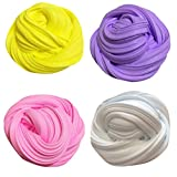 ILOVEDIY 4Packs Sludge Toys Fluffy Floam Slime No Borax Colorful Soft Mud Scented Stress Relief Kids Toy
