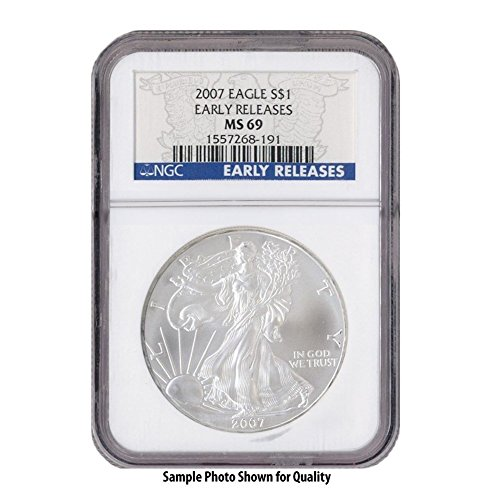 2007 American Silver Eagle $1 MS69 NGC Early Releases