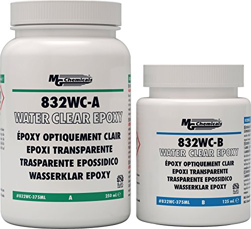 MG Chemicals Water Clear Epoxy, Potting and Encapsulating Compound, 375 mL, 2-Part Kit