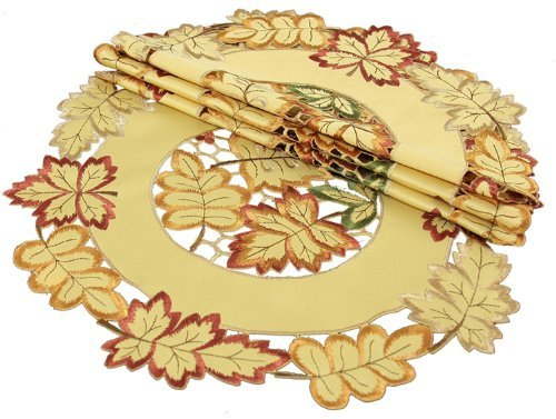 Xia Home Fashions Bountiful Embroidered