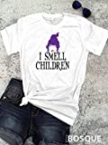 Full Color Hocus Pocus inspired T-Shirt/T-shirt Top Tee design I Smell Children with Mary Silhouette - Ink Printed