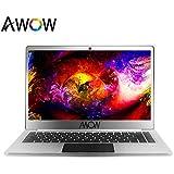 AWOW 14.1 Inch HD Ultra-thin Laptops Windows 10, 6GB RAM, 32GB ROM up to 256GB SSD, Intel Pentium Quad Cores N3400 up to 2.2Ghz, WiFi 802.11 ac, Type-C, USB 3.0, Micro HDMI