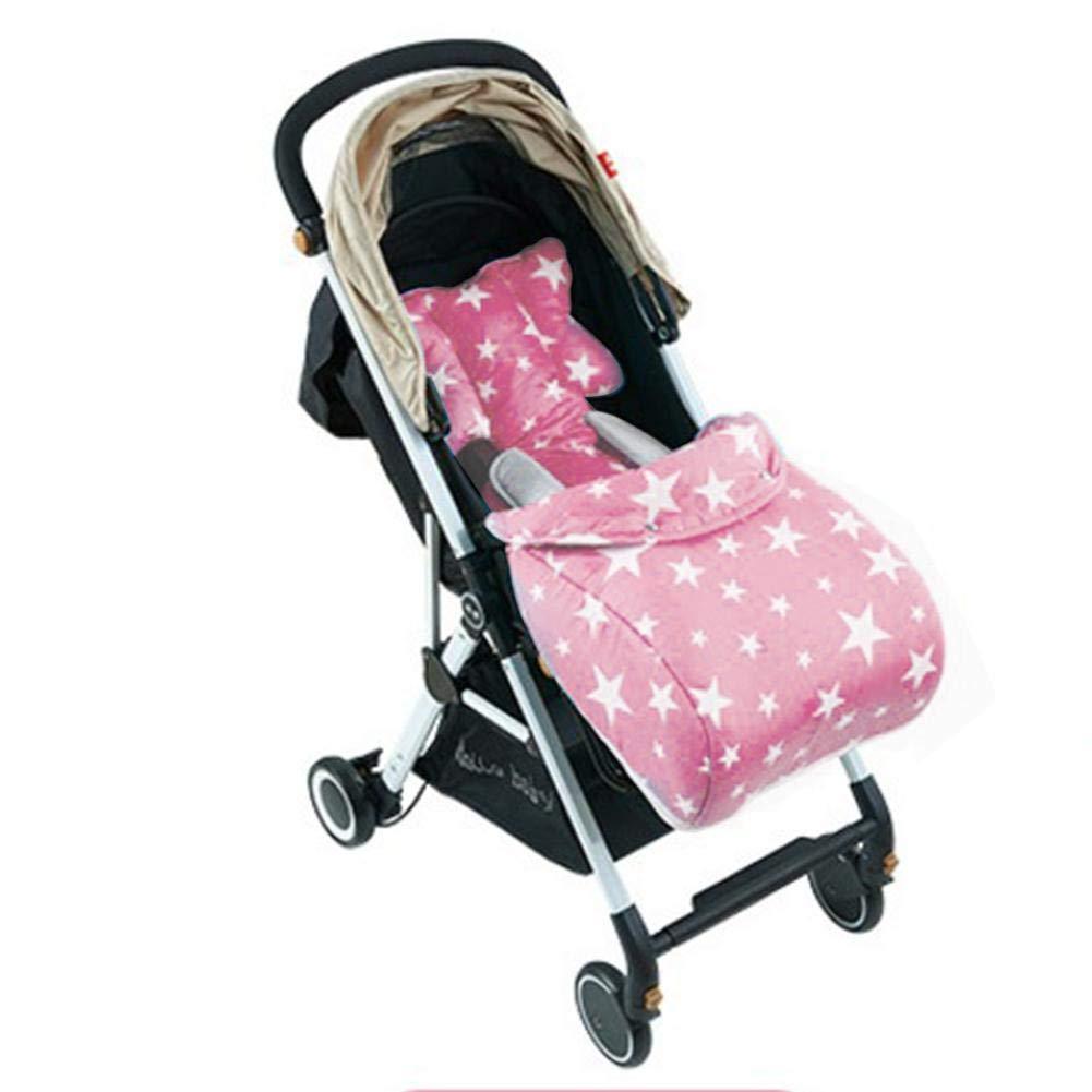 Kindersitz und Babyschale Buggy Weich Sitzeinlage aus Baumwolle Universal Sitzauflage f/ür Kinderwagen