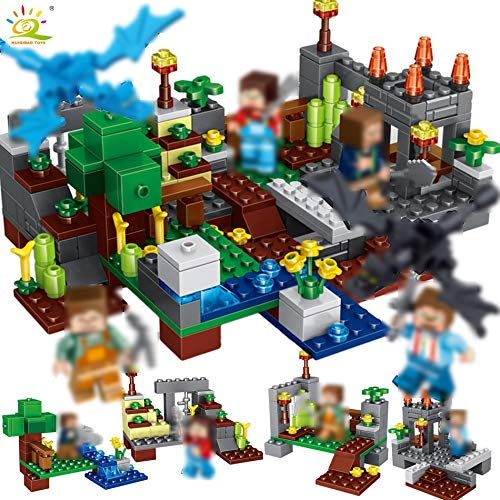Best choise product 267pcs 4in1 Town Group Figures Building Blocks Compatible legoingly minecrafted City Weapon Bricks for Children]()