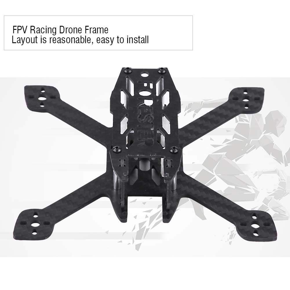 Alomejor Forester F130 Rack FPV Race Crossing Rack Fibra di Carbonio 130 mm Racing Drone Frame Quadcopter Part