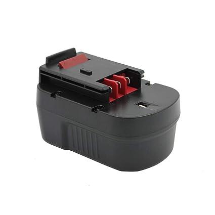 Kinon Reemplazo Herramienta Eléctrica Batería 14.4V 2.0Ah Para Black & Decker Taladro Inalambrico Destornillador A14 A144 A144EX A14F BD1444L BD146F3 ...