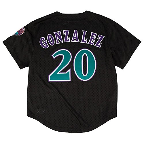 Mitchell & Ness Luis Gonzalez Black Arizona Diamondbacks Authentic Mesh Batting Practice Jersey (Gonzalez Jersey)