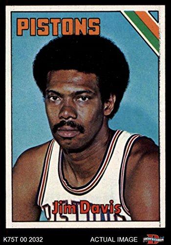1975 Topps # 174 Jim Davis Detroit Pistons (Basketball Card) Dean's Cards 6 - EX/MT Pistons ()
