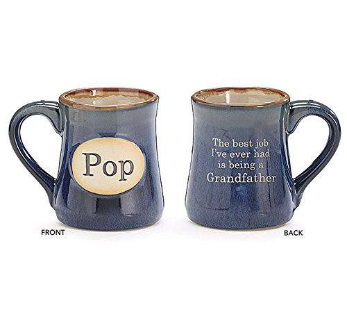 burton+BURTON Pop Best Job Ever Porcelain Navy Blue Coffee Tea Mug Cup 18oz Gift Box