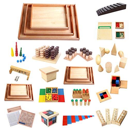 good Juegos de Montessori Material Mini Familia Establece Barras ...