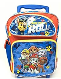 Small Rolling Backpack - Paw Patrol - Roll Blue/Red Team School Bag 155388