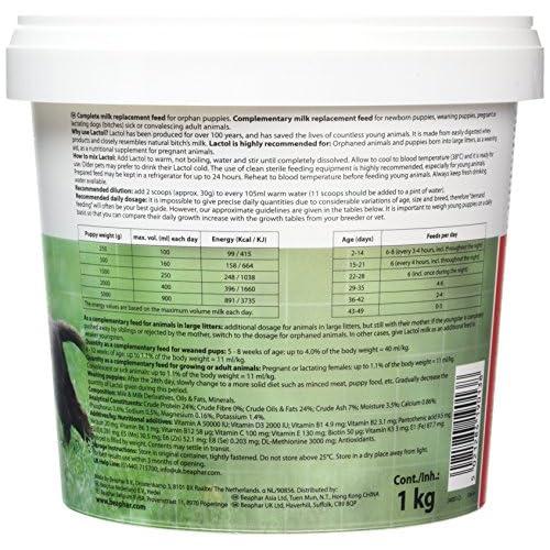 delicate Beaphar Lactol Milk Supplement for Puppies 1 kg
