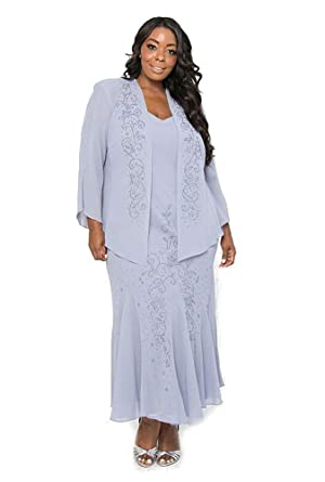 Rm Richards Long Formal Mother Of The Bride Plus Size Dress Made In