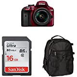 Nikon D3400 w/AF-P DX NIKKOR 18-55mm f/3.5-5.6G VR (Red) Accessory Bundle