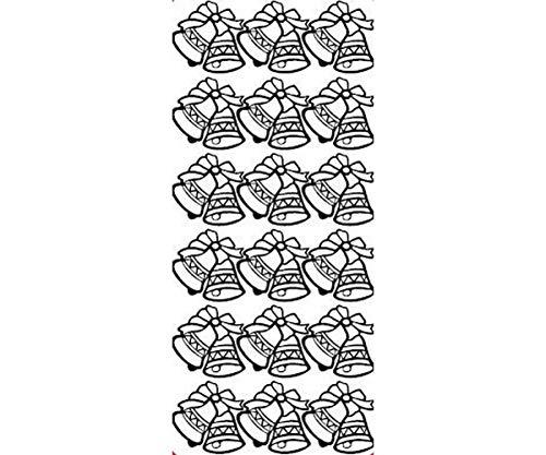 5pcs Contours 10x23 - Bells A Few, The Silver, The Contours, Stickers, Art Supplies ()