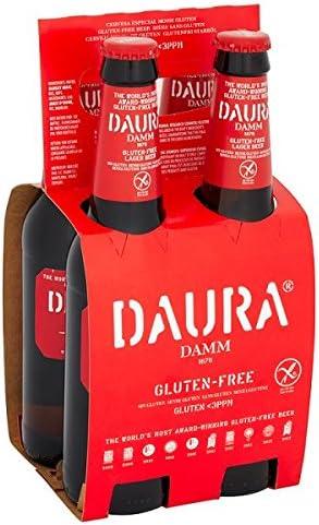Daura Damm sin gluten Cerveza Lager 4 x 330 ml (Pack de 24 x 330 ml)