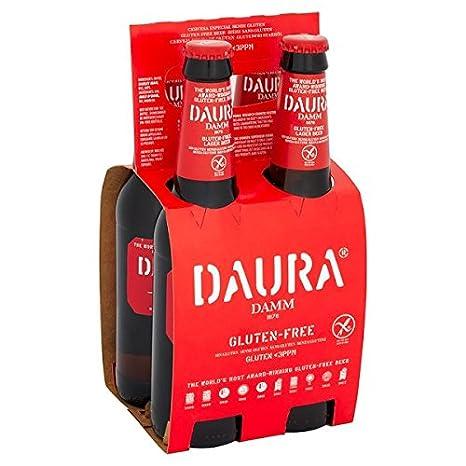 Daura Damm sin gluten Cerveza Lager 4 x 330 ml (Pack de 24 x ...