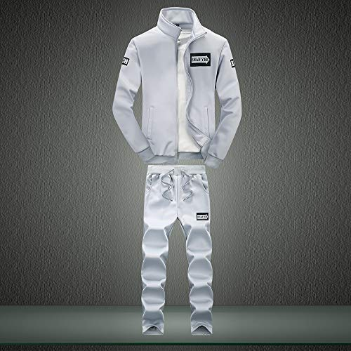 4xl E Pezzi Tuta Lunghe Inverno Top A Uomo Maniche 2 Abcone Grigio Pantaloni Felpa Leisure Autunno Zipper Suit M Imposta Sportiva Sport Rq4wfCnU