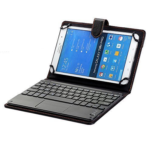 Universal 8 Inch to 9 Inch Bluetooth TrackPad Keyboard Case for Acer Iconia One 8,Lenovo Tab S8,Asus Memo Pad 8,Asus ZenPad S 8.0,Sony Xperia Z3 Tablet Compact, LG G Pad 8.3, Dell Venue 8 Pro (Black)