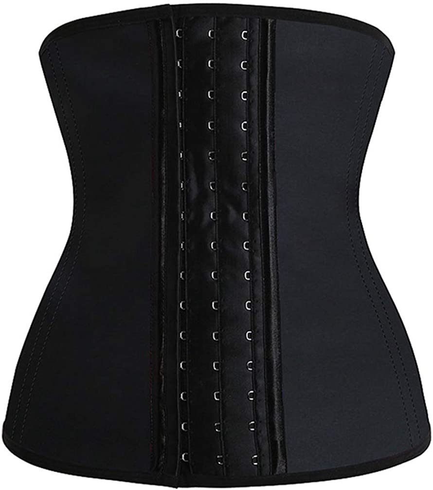 ASO-SLING Women Hook and Eye Waist Trainer Seamless Slim Corset Cincher Breathable Bodysuit