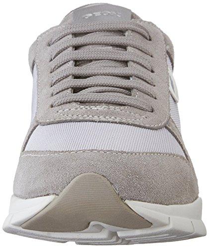 Low für Damen Top Grau Grey a Geox D Sneakers Lt Sukie Gris FnntqxU