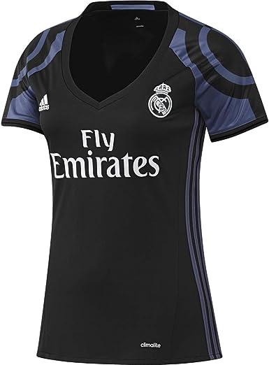 adidas 3ª Equipación Real Madrid CF 2015/2016 - Camiseta Oficial Mujer: Amazon.es: Ropa y accesorios
