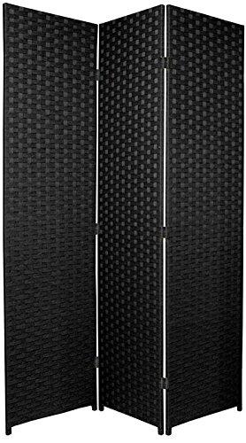 BlueBoxInnovations ENTWINE SQ Black Colour Handmade 3 Pane panel Room Divider/Folding Screens