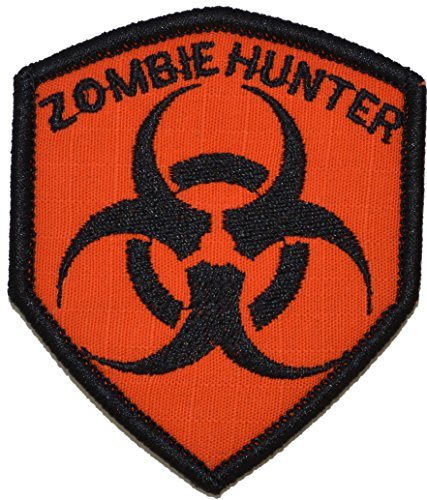 Zombie Hunter Biohazard Symbol 2x3.5 Shield Morale Patch - M
