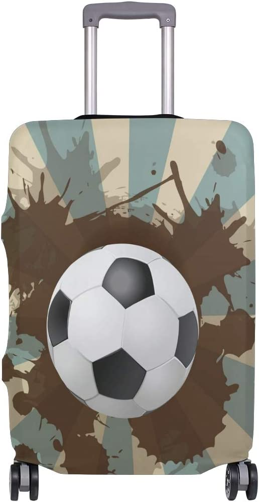 FOLPPLY Soccer Ball Luggage Cover Baggage Suitcase Travel Protector Fit for 18-32 Inch