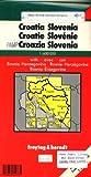 Carte routière : Kroatien, Slowenien, Bosnien-Herzegowina