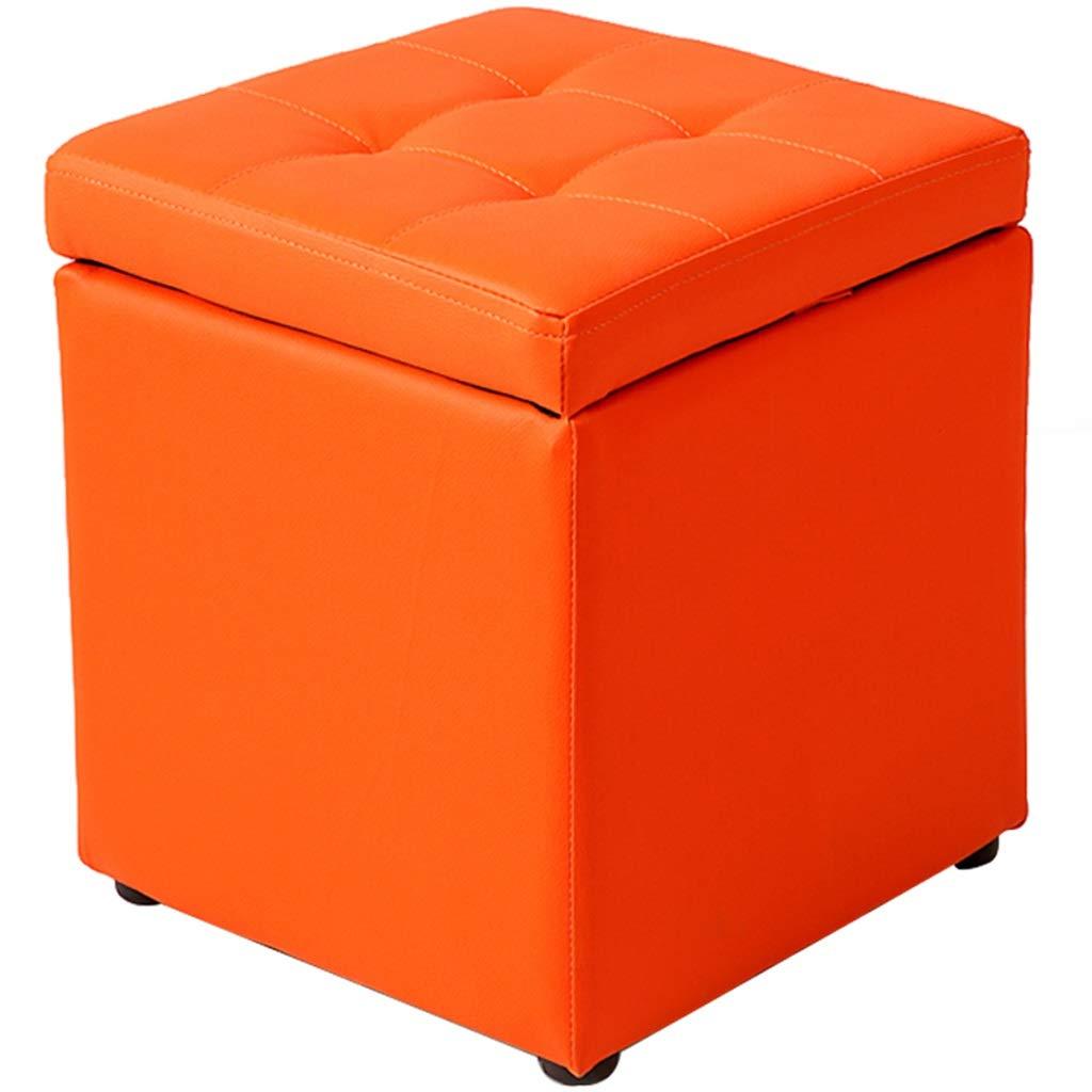 Simple Storage Stool Storage Square PU Waterproof Modern Living Room Sofa Bench Bearing Weight 300 Kg Multicolor