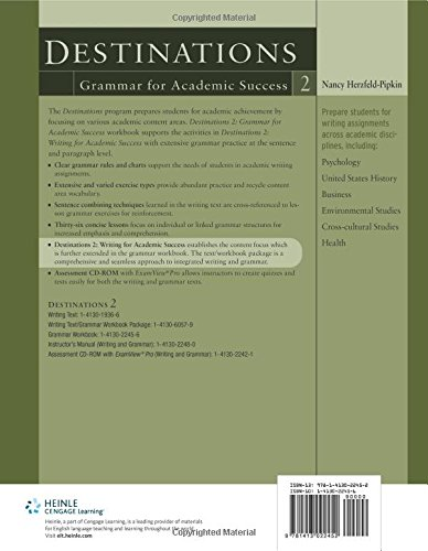 Destinations 2 Grammar For Academic Success Writing For
