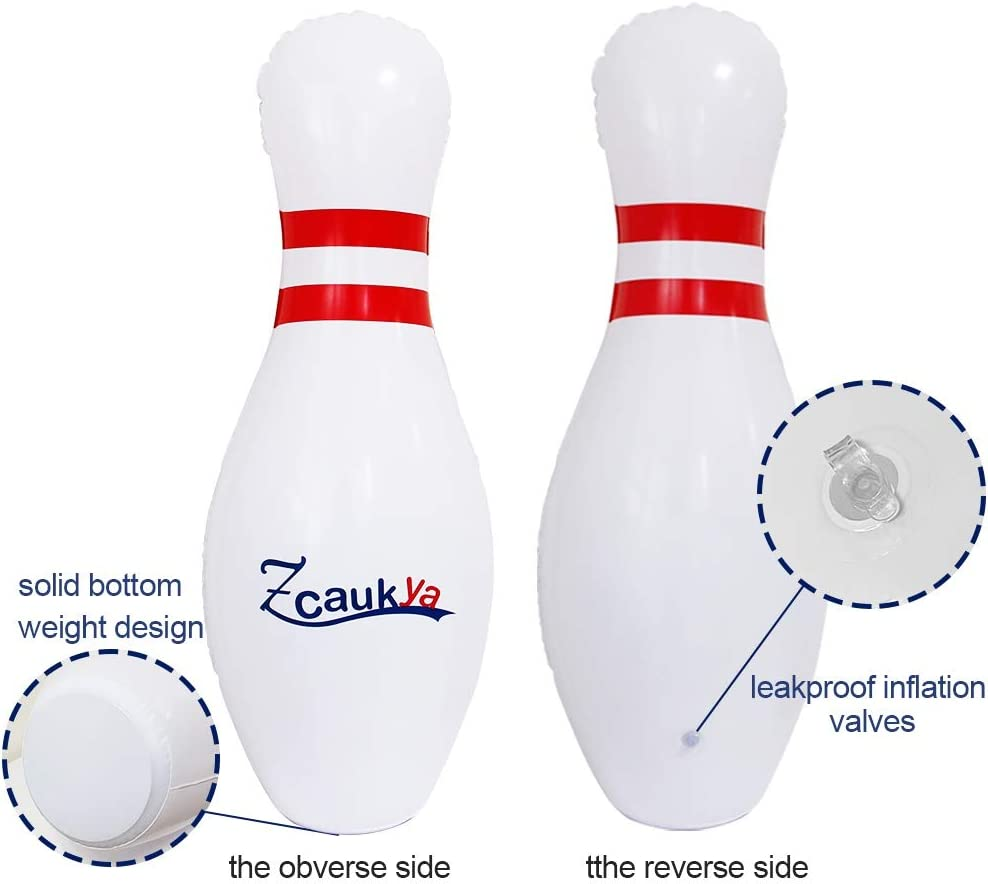 26 Inflatable Bowling Set for Kids Play Indoor Games or Outdoor Games for Family Zcaukya Giant Bowling Set A Giant Games Classic for Any Age