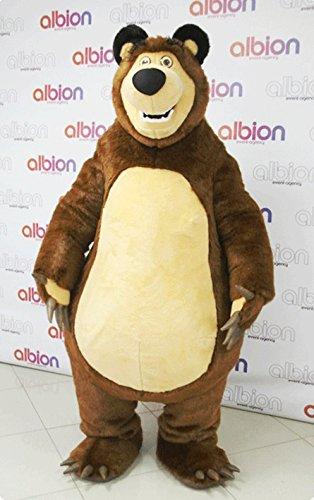 Hohe Qualität Masha Bär Ursa Grizzly Maskottchen Kostüm Cartoon