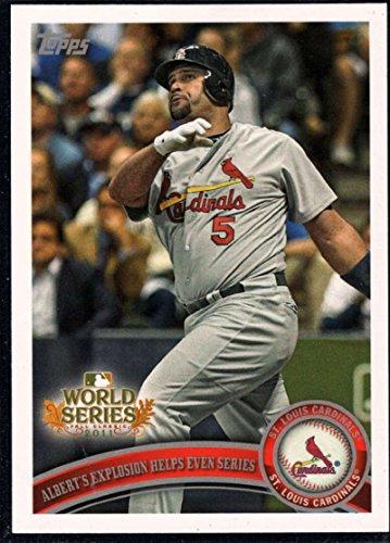 Albert Pujols Baseball - 2011 Topps World Series Champions #WS23 Albert Pujols Cardinals Card NM-MT