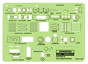 Rapidesign Heating and Air Conditioning Template, 1 Each (R41)