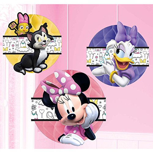 Amscan Honeycomb Decoration, Disney Minnie Mouse Happy Helpers Collection, Party Accessory, Standard, Multicolor