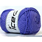 Lot of 4 x 100gr Skeins ICE YARNS Macrame Cord Lavender