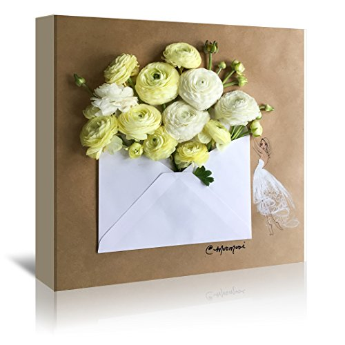 Americanflat Gallery Wrapped Canvas - Envelope Bouquet - Meredith Wing, 24