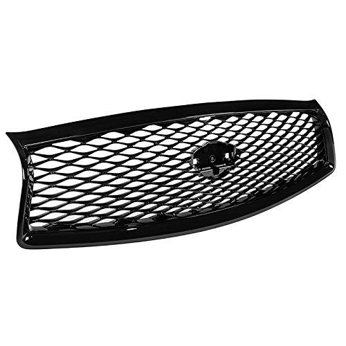 For Infiniti Q50 14-17 JDM Eau Style Black Front Bumper Hood Grille Conversion
