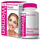 Flash Sale! Horny Goat Weed Extract for Women, Natural Booster for Best Performance with Maca Root, Muira Puama, L Arginine, Epimedium 1000mg & Icariins 100mg, Made in USA - 60 Capsules