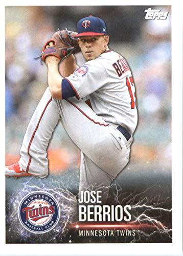 2019 Topps MLB Stickers Baseball #70 Jose Berrios/George Springer Minnesota Twins/Houston Astros Trading Card Sized Album Sticker with Collectible Card - Houston Astros Photo Album