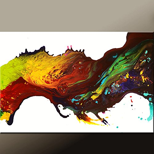 Abstract Canvas Art Contemporary Painting by Destiny Womack - dWo - Leaps of Faith by Destiny Womack Original Art
