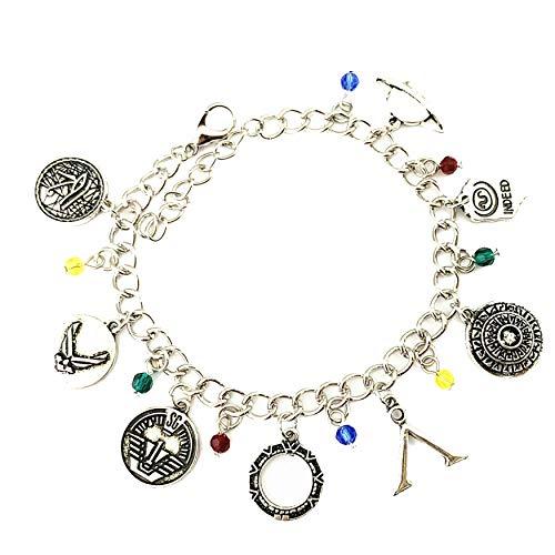 Athena Brand Stargate SG-1 TV Series Sci-Fi Theme Comics Movie Cartoon Logo Charm Jewelry Bracelet w/Gift -