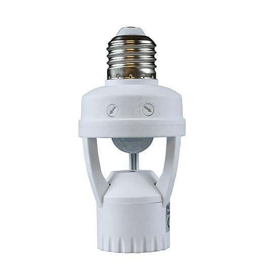 Hirate E26 PIR infrarrojo Sensor de movimiento inteligente ...