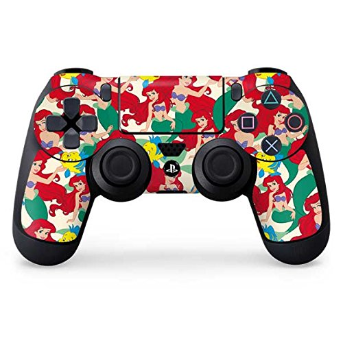 The Little Mermaid PS4 Controller Skin - Ariel and Flounder Pattern   Disney & Skinit Skin (The Little Mermaid Playstation)